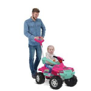 Mini Veículo de Passeio - Superquad com Pedal - Rosa - Bandeirante