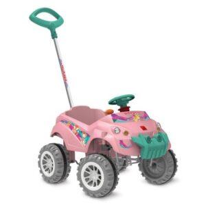 Carrinho Smart de Passeio e Pedal - Baby Cross - Rosa - Bandeirante