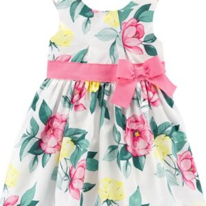 Vestido de cetim floral Carter's 12M