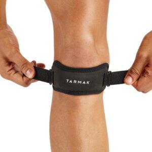 STRAP DE MAINTIEN DU GENOU GAUCHE/DROIT POUR HOMME/FEMME NOIR - *knee strap, one size fits all