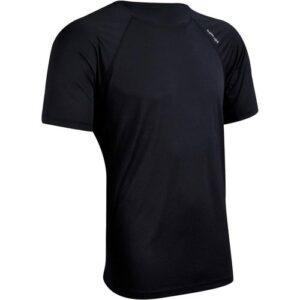 Camiseta Fitness Tecido Leve 100 Preta