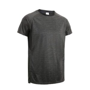 Camiseta Fitness Masculina FST120 Preta Estampada - CAMISETA FITNESS MASCULINA, LINHA 120, TAM. GG, COR PRETA ESTAMPADA, DOMYOS