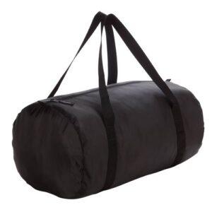 Mala Esportiva 30L Dobrável Tubo Preta - FITNESS BAG POCKET BLACK, .