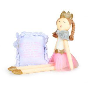 Boneca de Pano - Princesa + Almofadinha Santo Anjo - Rosa