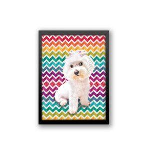 Quadro - Personalize Pet - Zig Zag Colorido
