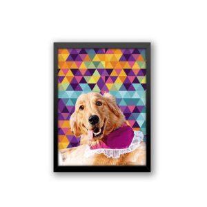 Quadro - Personalize Pet - Geométrico Colorido