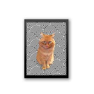 Quadro - Personalize Pet - Abstrato Preto e Branco