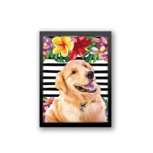 Quadro - Personalize Pet - Floral com Listras