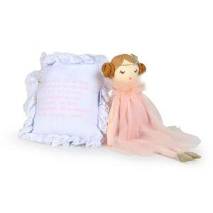 Boneca de Pano + Almofadinha Santo Anjo - Rosa
