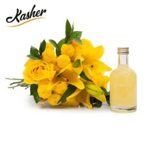 Buquê Felicidade com Flores Amarelas P + Limoncello Vom Fass 250ml