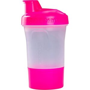 Shaker 400ml 2em1 com Dose Extra Rosa - *SHAKER APTONIA 1 DOSE ROSA