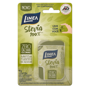 Linea Adoçante  Stevia 100% - 100 Comprimidos