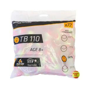 BOLA DE TÊNIS TB110 X72 PONTO LARANJA - TB 110 X72