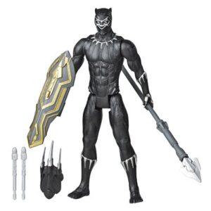 Boneco Articulado - 30 Cm - Disney - Marvel - Vingadores - Pantera Negra - Lançador - Hasbro