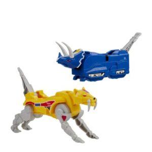 Figura de Ação - Power Rangers - Dino Megazord - Triceraptor e Tigre Dente de Sabre - Hasbro