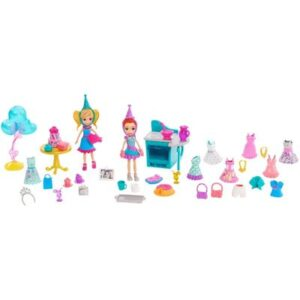Bonecas Polly Pocket - Pacote de Festa - Lila e Polly - Mattel