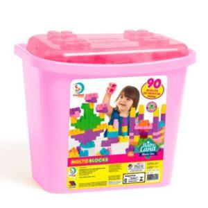 Brinquedo de Atividades - Blocos Baby Land - Blocks Box 90 Blocos - Menina - Cardoso