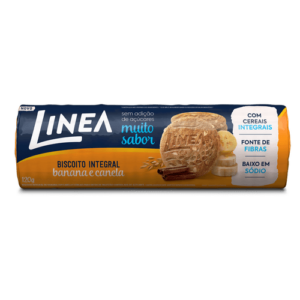 Linea Biscoito Integral Banana E Canela 120G