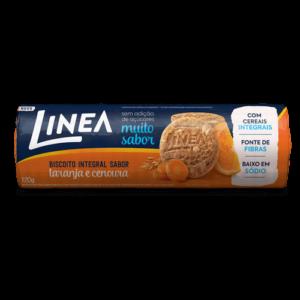 Linea Biscoito Integral Laranja E Cenoura 120G