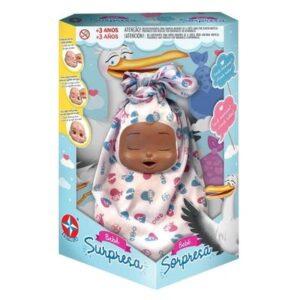 Boneca Bebê - Surpresa - Negra - Estrela