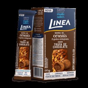 Linea Barra De Cereais 3 Grãos Integrais Trufa De Chocolate 3 Unidades