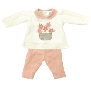 Conjunto Infantil - Blusa e Calça - Algodão e Poliéster - Flores - Rosa - Tilly Baby - GG