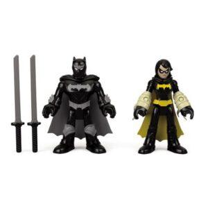 Mini Bonecos - 7 Cm - Black Bat e Batman Ninja - Imaginext DC Super Amigos - Fisher-Price