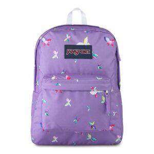 Mochila JanSport SuperBreak - Purple Dawn Butterfly Kisses