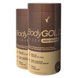 Shake Body Gold Chocolate: Perder Peso - 22 Porções - 2 Frascos