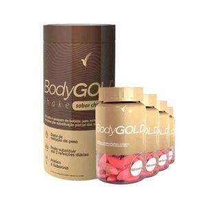 Kit Emagrecer: Body Gold Cápsulas - 60 dias e Shake Chocolate - 11 Porções