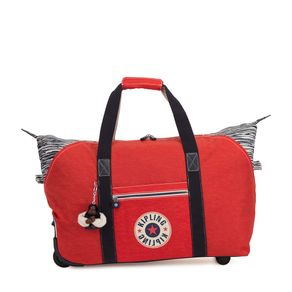 Bolsa Kipling Art On Wheels M - Vermelha