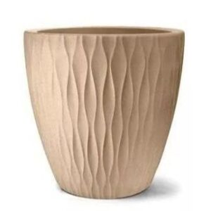 Vaso Infinity Redondo 50 cm x 50 cm Areia