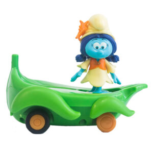 Veículo com Mini Figura - Smurfs - Smurflily e Leafboard - Sunny