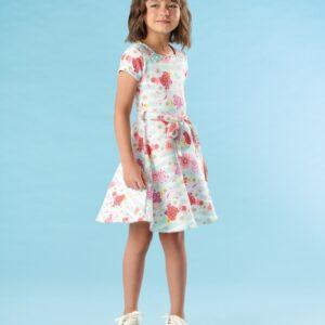 Vestido Infantil Verão Flores - Kiki Xodó - 8 - Esmeralda