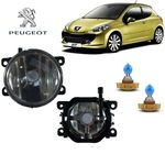 Farol De Neblina Vic Importado Peugeot 207 13 H16 Branca Par