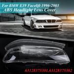 2 Pcs Esquerda & amp; Direita limpar Tampa Da Lente do Farol Tampa fazer Caso Shell Substituição Pará BMW E39 Facelift 1996-2003 Modelos