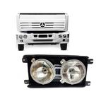 Farol Duplo Mercedes Benz 2420 Original Fortluz Cromado Dir
