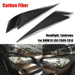 1 par de fibra de carbono sobrancelhas farol cobrir pálpebras guarnição para bmw x1 e84 2009-2014 car styling para farol dianteiro