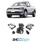 Kit Farol de Milha VW Saveiro Trend 2013/2016, Saveiro Trooper 2013/2016 - Sem Grade - Botão Original (HB4)