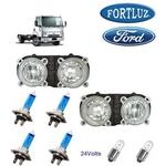 Farol Ford Cargo 5032 2005 Orig Fortluz Kit c 2 SB