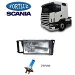 Farol Princ Scania R114 2004 Com Lâmpada LD S Branca