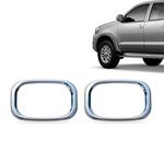 Kit Moldura Farol de Milha Cromada Toyota Hilux 2013 14 15