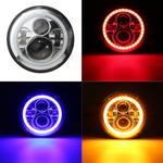 Farol de lâmpada de sinalização DRL de 45W 7 polegadas redondo Hi / Lo LED Halo Angel Eye para Jeep para Wrangler 1997-2016 Luz de trabalho off-road