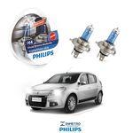 Lâmpadas Farol Renault Sandero Philips H4 Crystalvision
