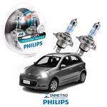 Lâmpadas Farol Nissan March Philips H4 Xtremevision