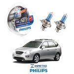 Lâmpadas Farol Kia Carens Philips H4 Crystalvision