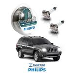 Lâmpadas Farol Baixo Jeep Cherokee 2005-2013 Philips H7 Xtremevision