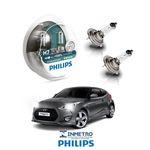Lâmpadas Farol Baixo Hyundai Veloster 2012-2013 Philips H7 Xtremevision