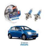 Lâmpadas Farol Toyota Etios Philips H4 Crystalvision
