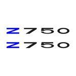 Adesivo Protetor Kawasaki z750 Azul Preto